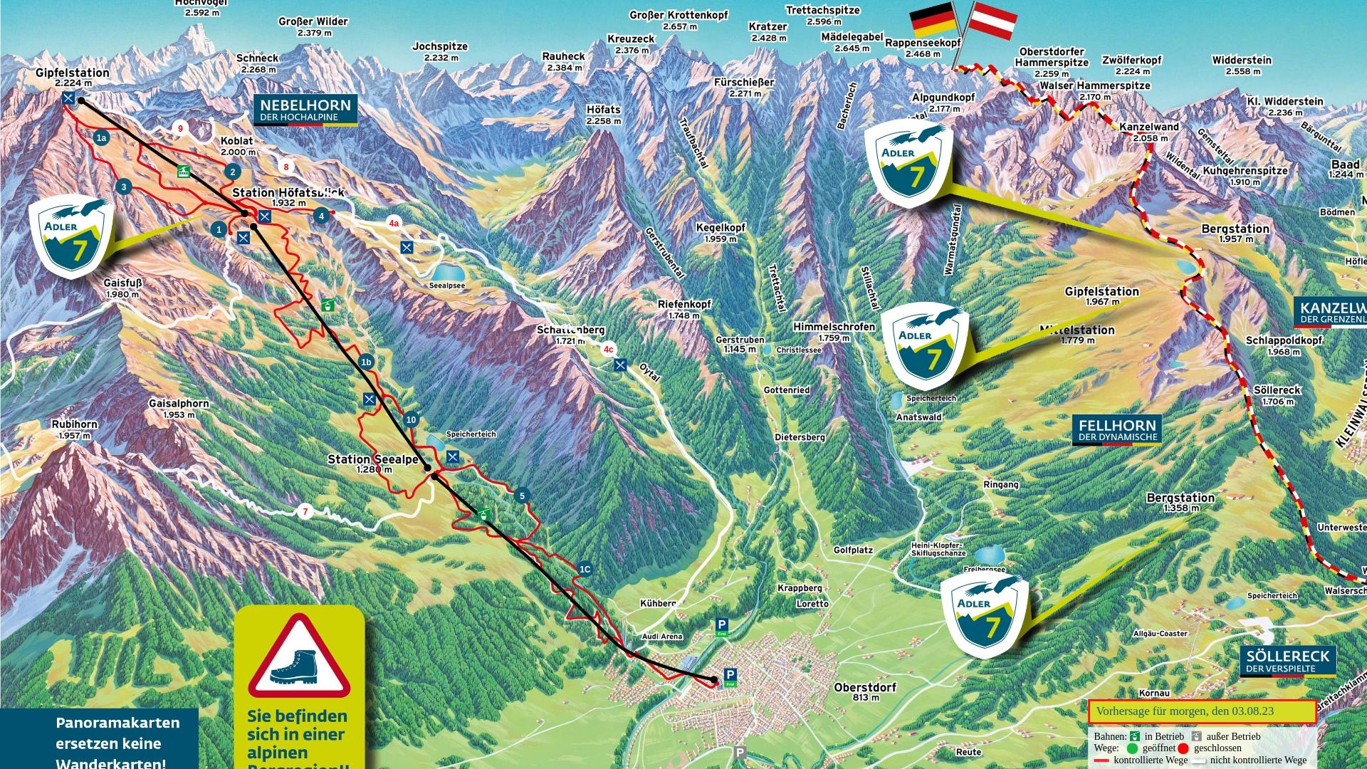 Wanderpanorama: Nebelhorn