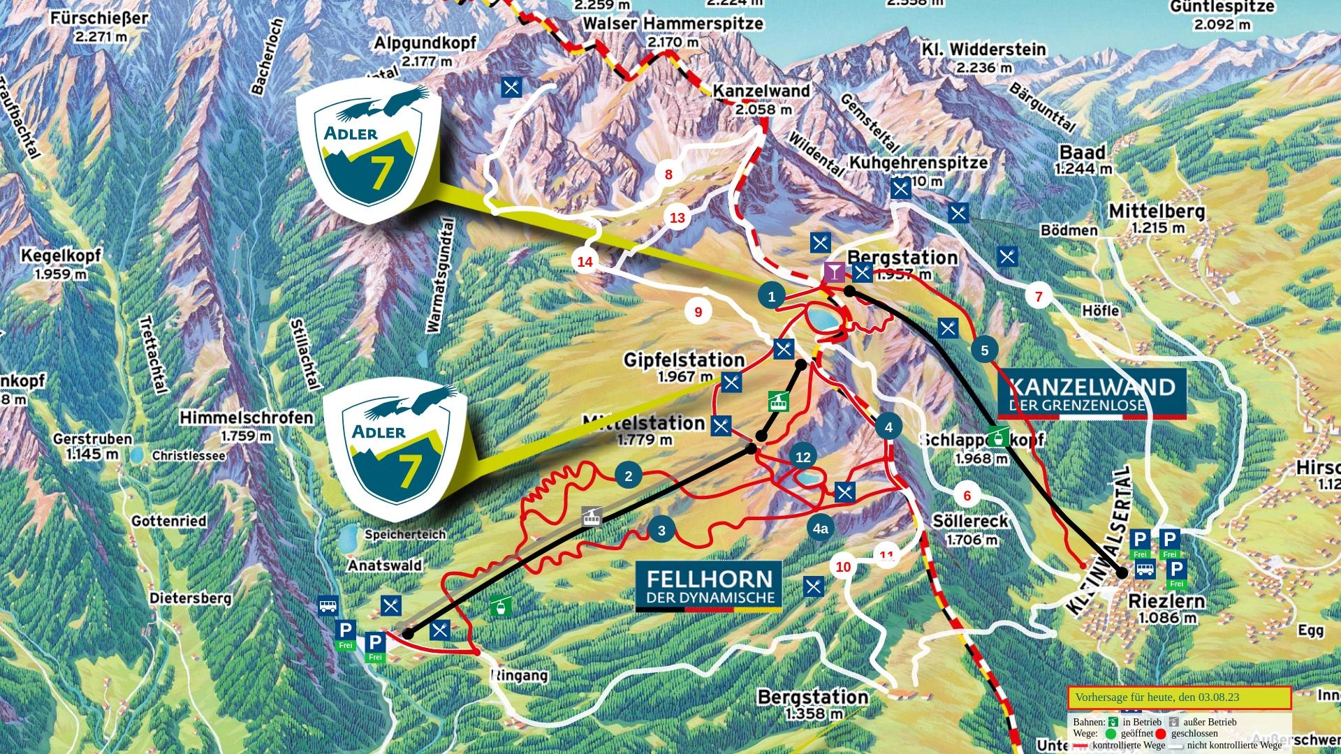 Wanderpanorama: Fellhorn / Kanzelwand