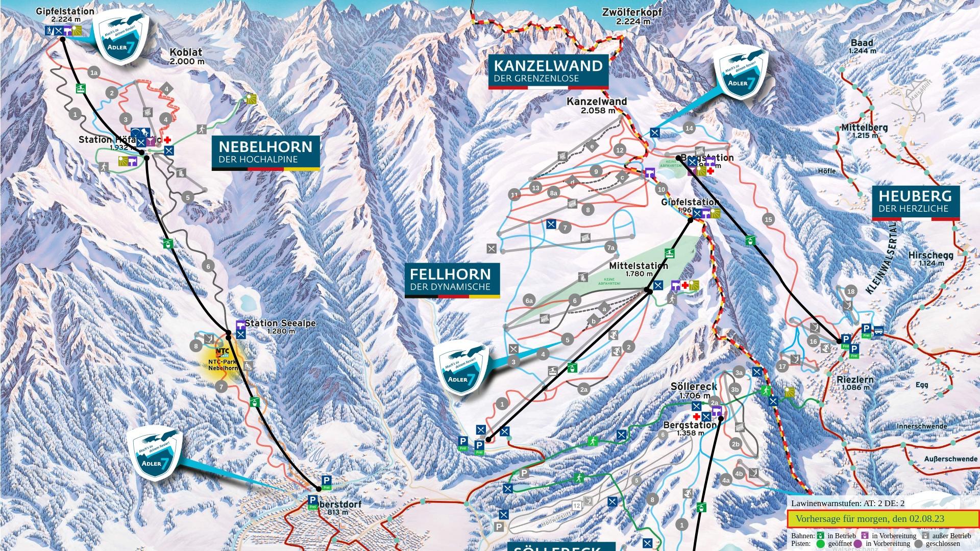 Pistenplan: Nebelhorn